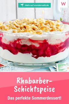 5 Rhabarber-Rezepte für einen rosaroten Frühling You still need a dessert for the barbecue with friends and family? Our rhubarb-topping is just the thing. Grill Dessert, Dessert Oreo, Oreo Desserts, Pudding Desserts, Strawberry Desserts, Easy Desserts, Dessert Simple, Delicious Cake Recipes, Yummy Cakes