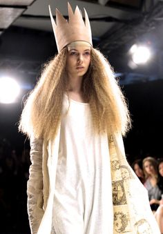 Emma Boyd (Nova) at Lela Jacobs Spring 2014 by katherineisawesome Vision Quest, Character Costumes, Daily Look, Spring 2014, Genetics, Squirrel, Headpiece, Riding Helmets, Fashion Show