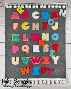 Make this easy, no sew toddler alphabet matching game using Kunin Felt and some old school Sizzix Alpha dies.