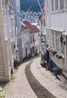 the streets of Bergen, Norway