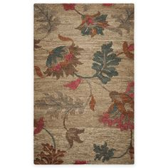 (5x8) $580 | Rizzy Home Autumn Floral Area Rug in Natural | Bed Bath & Beyond | #arearugs #favs