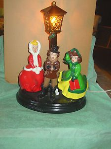 Vintage Atlantic Mold Ceramic Christmas Carolers And By