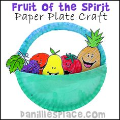 Fruit of the Spirit Paper Plate Bible Craft for Children's Sunday School