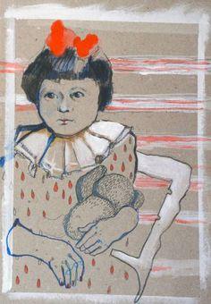 """Saatchi Art Artist Kasia Gawron; Drawing, """"Red ribbon"""" #art"""