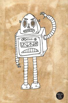 Robot-e by Mara F. Mertens #robots