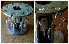 I made these cup holders with recycled pallet wood and zinc. I stuck a few blades together with strips then …