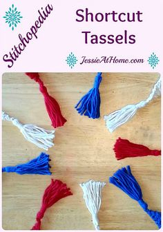 How to make yarn tassels for #knit or #crochet @jessie_athome