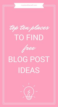 Need some help coming up with great post ideas? Here are 10 places to get genius blog post ideas.