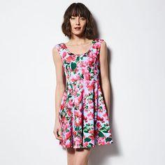 MILLY for DesigNation Scoopneck Fit & Flare Scuba Dress - Women's