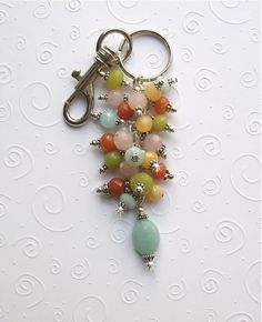 Key Ring or Purse Charm. Get all the supplies you need to make one of your own at www.fizzypops.com