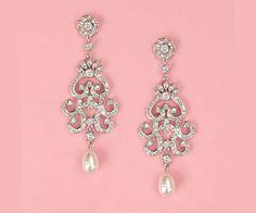 Pearl & Rhinestone Bridal Earrings - Bitsy Bride (shared via SlingPic)