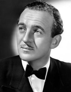 """""""But Champagne is not drinking."""" David Niven, born this day, March 1, 1910, when asked why he was drinking...what a generation!"""
