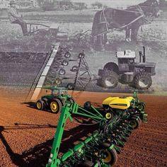 Dirt Roads And Dusty Pathways... New Holland Agriculture, Modern Agriculture, Agriculture Farming, Old John Deere Tractors, Jd Tractors, Agra, John Deere Combine, Tractor Pictures, New Tractor