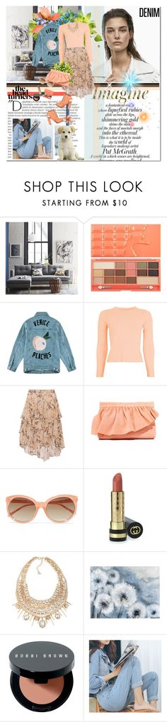 """""""IMAGINE"""" by k-hearts-a ❤ liked on Polyvore featuring AG Adriano Goldschmied, West Elm, Balmain, Être Cécile, Topshop, Jason Wu, Marie Turnor, Linda Farrow, Gucci and ABS by Allen Schwartz"""