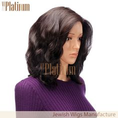 Factory Price 15 inches #2 #brush #back #wavy style #european #human #hair #sheitel #wig #jewish #kosher #wig. If you love it, don't miss it! More information, please view our website viviplatinum.com or add my whatsapp +86 15964264679