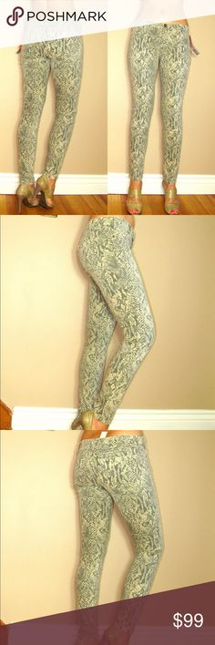 619945e693 Current Elliott Ankle Skinny Canvas Snake Print NEW WITH TAGS