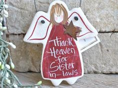 Sister in Law Birthday or Christmas Gift Salt Dough Ornament