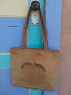 Vintage 1970s Bonnie Cashin Coach Leather Handbag Purse Travel Bag 2015214