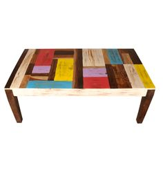 Colorful Sheesham Wood Coffee Table | Tables | Coffee Tables | Pepperfry Product