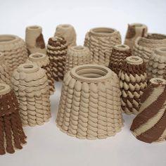 3D printed ceramics #testing #scripteddesigns #3dprinting #ekwc #ceramics #ceramic3dprinting #scripting #ELstudio