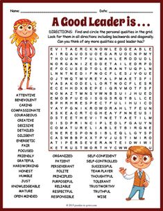 Leadership Word Search Worksheet by Puzzles to Print Leadership Words, Leadership Activities, Leadership Qualities, Leadership Coaching, Leadership Development, Online Coaching, Student Leadership, Leadership Lessons, Leadership