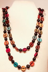 Button Necklace #fairtrade #worldpeaces