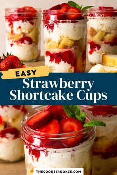 Strawberry Shortcake Cups are as beautiful as they are delicious. These tiny trifles are such a fun and tasty way to enjoy summer! With a delicious mix of fresh strawberries, chocolate, cream, and pound cake, they're pint-sized perfection! Strawberry Cheesecake Trifle Recipe, Strawberry Shortcake Cheesecake, Strawberry Recipes, Fruit Recipes, Dessert Recipes, Dessert Ideas, Mini Desserts, Easy Desserts, Delicious Desserts