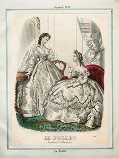 In the Swan's Shadow: Le Follet, March 1863  Civil War Era Fashion Plate