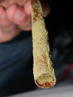 blunt dipped in lean and rolled in kief.