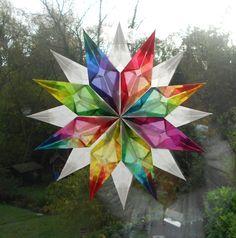 Weihnachtsdeko - Fensterstern Nr.10 24cm *aus dickem Papier* - ein Designerstück von Sternchentraum0211 bei DaWanda
