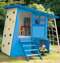 Functional little play structure.