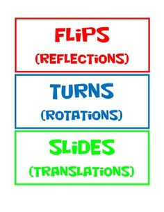 transformations flips slides turns student worksheet handout students follow instructions. Black Bedroom Furniture Sets. Home Design Ideas