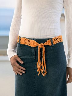 Crochet Belt by Bobbi Intveld Published in Blue Sky Alpacas Pattern Leaflet: Crochet Belt