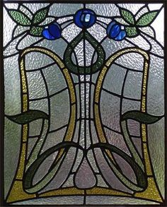 Stained glass. (Love the central shape.)