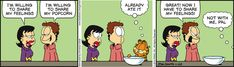 """Created by Jim Davis, Garfield is about the famous fat cat and his hilarious daily adventures with his """"pal"""" Odie and others. Hagar The Horrible, Garfield Comics, Jim Davis, Todays Comics, Belly Laughs, Smiles And Laughs, Classic Cartoons, Fat Cats, Funny Relationship"""