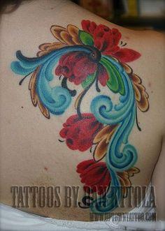 norwegian rosemaling tattoo - Google Search