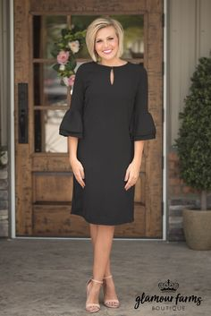 Elegant Evenings Shift Dress – Black - All About Dressy Dresses, Modest Dresses, Stylish Dresses, Simple Dresses, Plus Size Dresses, Elegant Dresses, Dress Outfits, Dresses Uk, Evening Dresses