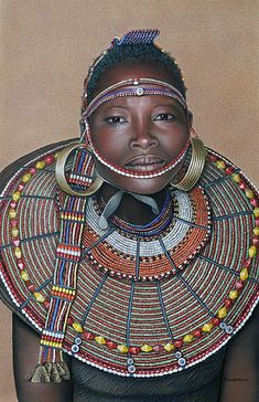 Pokot Tribe: the Pokot people live in the West Pokot County and Baringo County of Kenya and in Pokot District of eastern Karamoja region in Uganda. They speak Pökoot, language of the Southern Nilotic language family. #beadwork #Pokot
