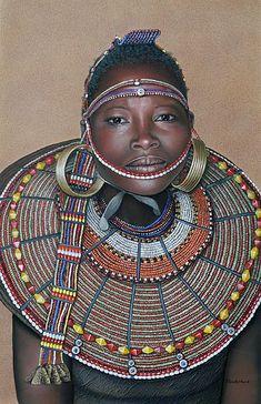 Pokot woman, Africa. | Les Pokot sont une population d'Afrique de l'Est, vivant principalement à l'ouest du Kenya, également en Ouganda.