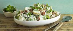 Creamy Potato, Bacon & Pea Salad recipe from Food in a Minute