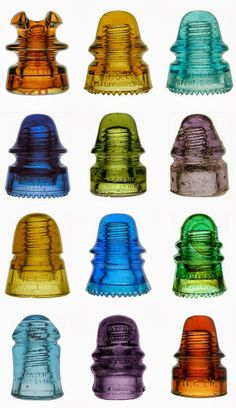 Glass telegraph insulators come in a variety of colors, and we have so many of them! See for yourself today! #BerkshireCollects