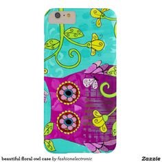 beautiful floral owl case barely there iPhone 6 plus case