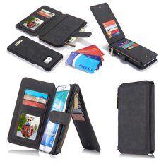 [US$22.14] CaseMe Vintage Leather Multifunctional Detachable Zipper Wallet Case For Samsung Galaxy S6 Edge  #case #caseme #detachable #edge #galaxy #leather #multifunctional #samsung #vintage #wallet #zipper