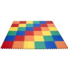 "Amazon.com: Rainbow Interlocking foam Wonder Mats: 36 Pieces at 12"" X 12"" X ~9/16"" Extra Thick: Baby"