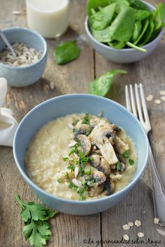 porridge champignons vegan avoine Vegetarian Recipes, Healthy Recipes, Oats Recipes, Vegan Kitchen, Tasty Dishes, My Favorite Food, Love Food, Food Porn, Brunch
