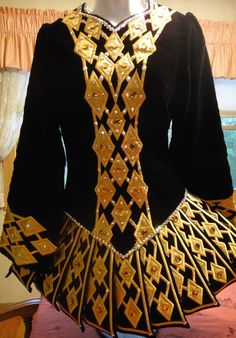 Black & Gold Irish Dance Solo Dress