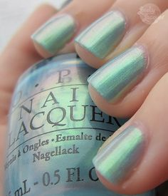 Love this color! OPI~Sonic Bloom~Brights Collection 2005~NL B26~Stunning Blue Green Duochrome #OPI