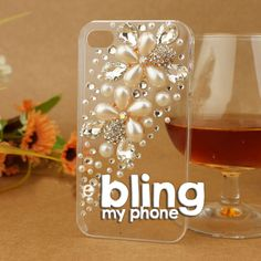 #handmade #iphone #samsung #mobile #phone #cases #phonecases check out http://www.facebook.com/BlingImports Rhinestone/Crystal/Diamond Hard phone Case - this 'Pearl Flower' model just £14 and post free - pre-orders yours via our Facebook link above!
