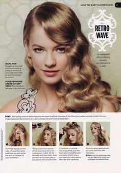 The Hair Style File--Milla Jovovich Always Makes Waves with 1940s Style | GlamAmor
