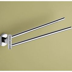 Gedy by Nameeks Edera Jointed Double Towel Bar in Chrome $49